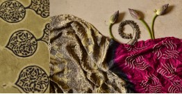 मृणालिनी ☘ Gajji Silk ☘ Ajrakh Bandhani Saree ~ 13