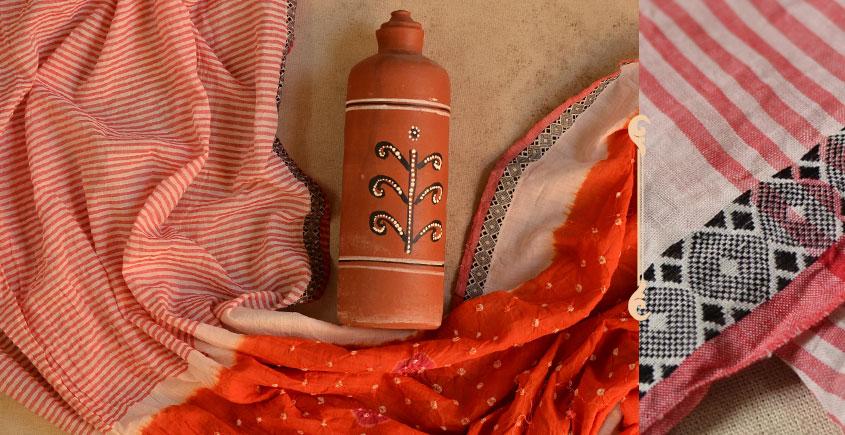 सिन्धु ✛ Handwoven . Cotton Bandhani Saree ✛ 4