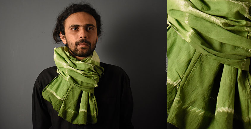 64 Square ♢ Clamp Dyed Cotton Stole ♢ 7