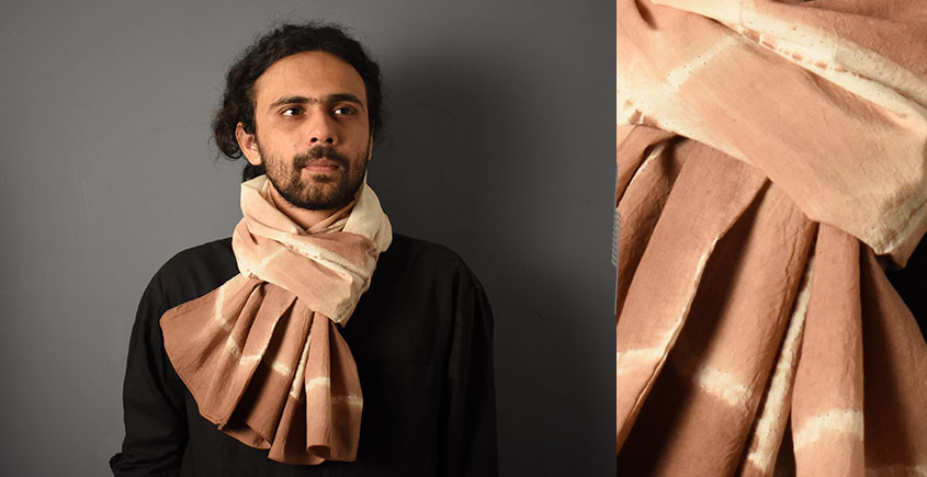 64 Square ♢ Clamp Dyed Cotton Stole ♢ 13