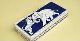 Wooden box ☀  Elephant ( Indigo )