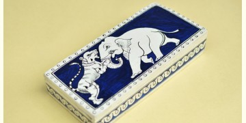 Wooden box ☀  Elephant ( Indigo )
