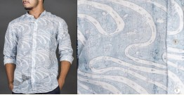 Patratu valley indigo ● Linen Block Printed Shirt ● 2