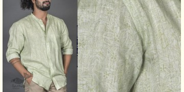Neem koyal green ● Linen Block Printed Shirt ● 3