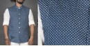 Shop online clock printed cotton men Jacket for special occasions