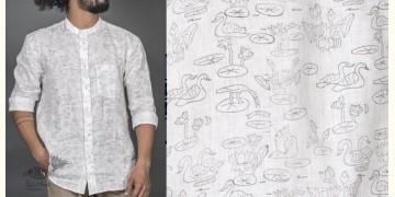 Talab ● Linen Block Printed Shirt ● 6