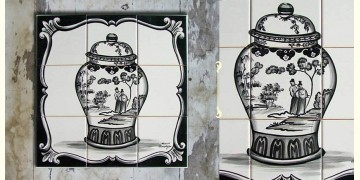Grace the wall ~ CHINESE MURAL-A (Set of 9 tiles)