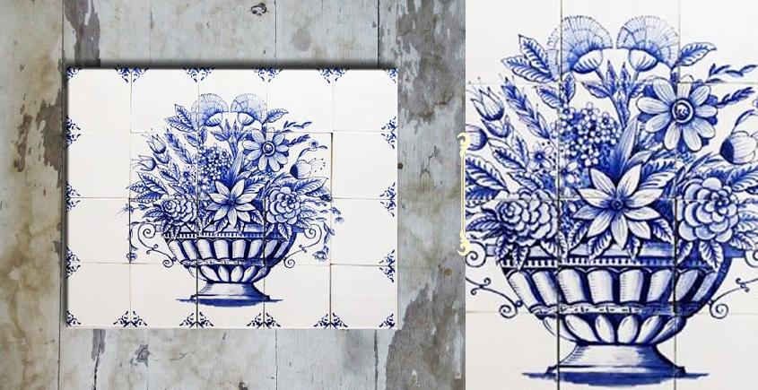 Grace the wall ~ DUTCH MURAL-B (Set of 20 tiles)