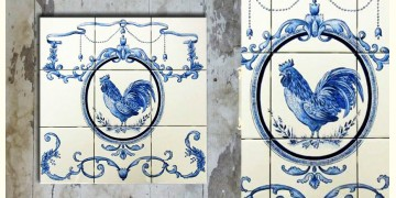 Grace the wall ~ DUTCH MURAL-C (Set of 9 tiles)