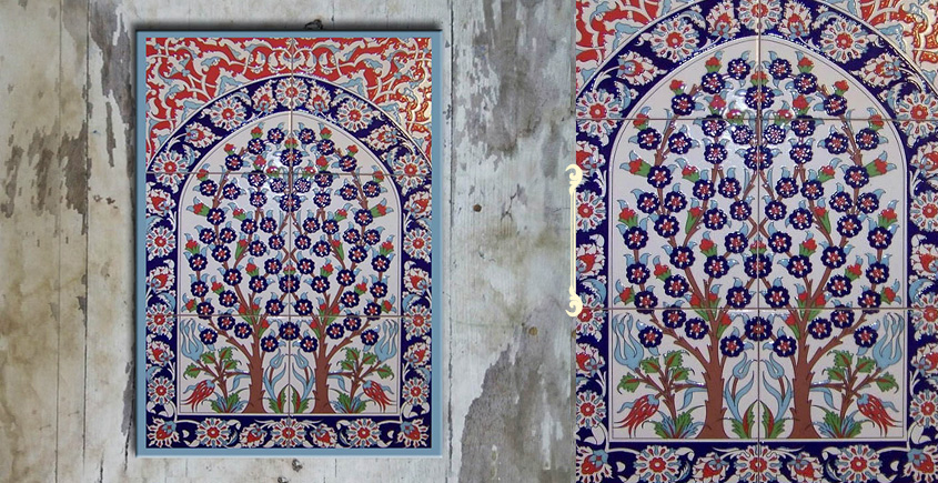 Grace the wall ~ TURKISH MURAL-F (Set of 6 tiles)