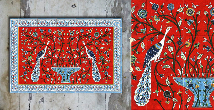 Grace the wall ~ TURKISH MURAL-H (Set of 6 tiles)