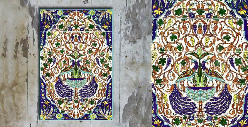 Grace the wall ~ TURKISH MURAL-J (Set of 15 tiles)