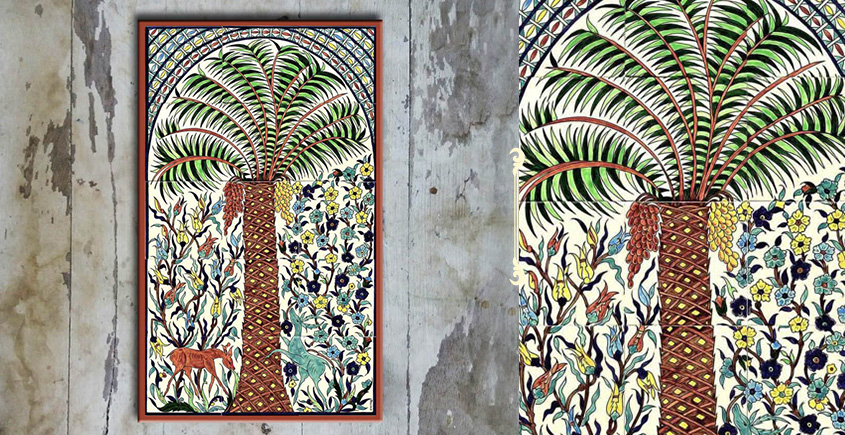 Grace the wall ~ TURKISH MURAL-K (Set of 15 tiles)