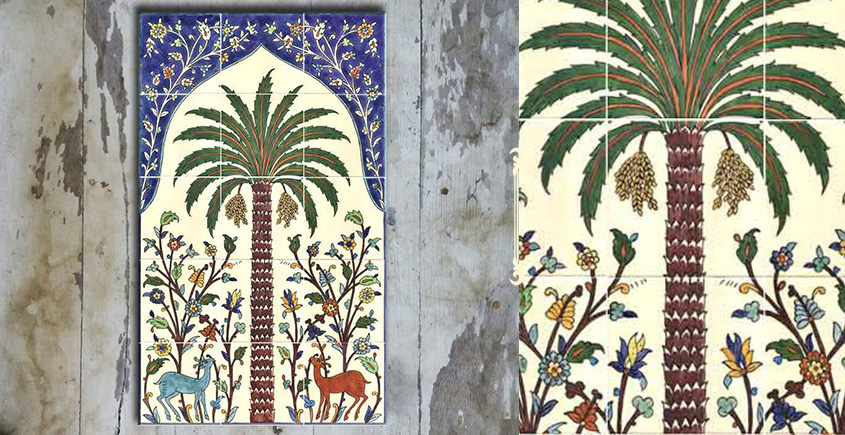 Grace the wall ~ TURKISH MURAL-M (Set of 15 tiles)
