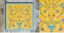 Grace the wall ~ TURKISH MURAL-Q (Set of 9 tiles)
