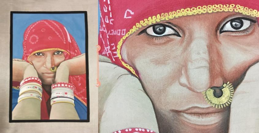 Miniature Painting ~ Rajasthani Women