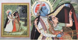 Miniature Painting ~ Rajasthan ~ Radha krishna in the Rain