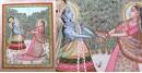 Miniature Painting ~ Rajasthan ~ Radha Krishna playin Raas