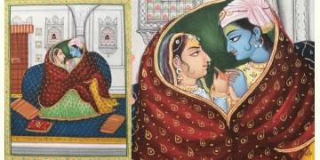 Miniature Painting ~ Rajasthan ~ Radha Krishna Together