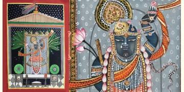 Miniature Painting ~ Rajasthan ~ Srinath ji {A}