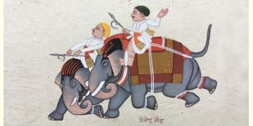Miniature Painting ~ Rajasthan ~ Mahavat