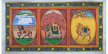 Miniature Painting ~ Rajasthan ~ Three City