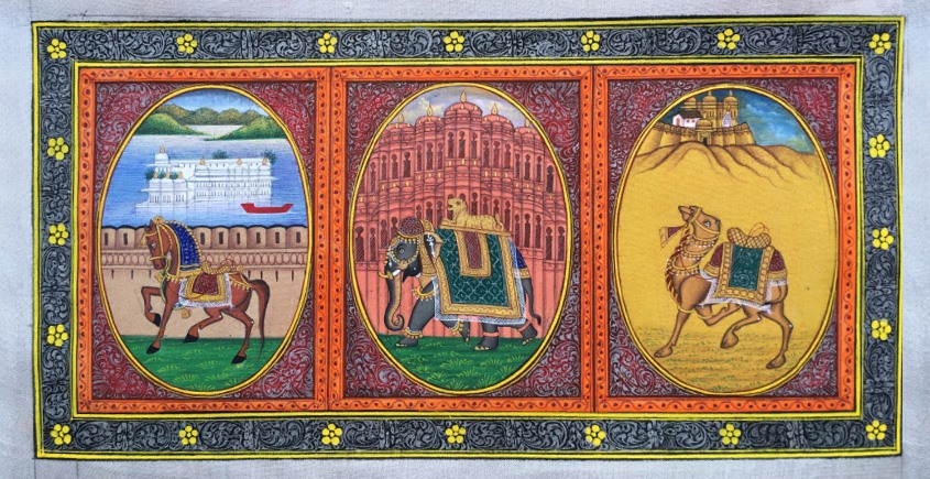 Miniature Painting ~ Rajasthan ~ Three City