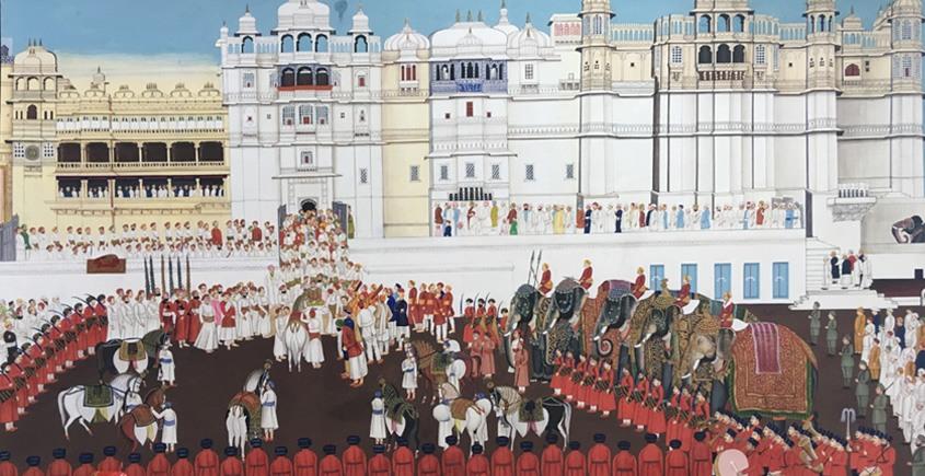 Miniature Painting ~ Rajasthan ~ Udaipur Palace Sabha