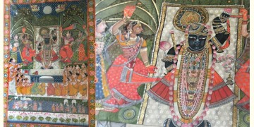 Miniature Painting ~ Rajasthan ~ Srinath Ji {D}
