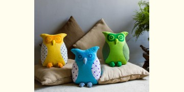 Animal Cushion – Polka Owls { 5 } { Single piece }