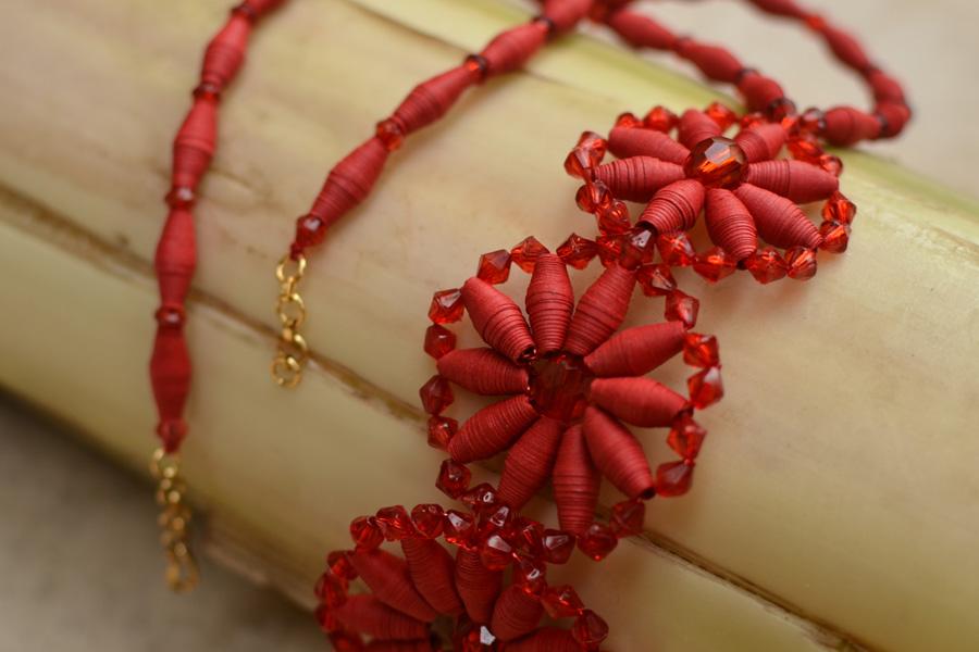 Buy Handcrafted Designer Paper Jewellery ~ Necklaces