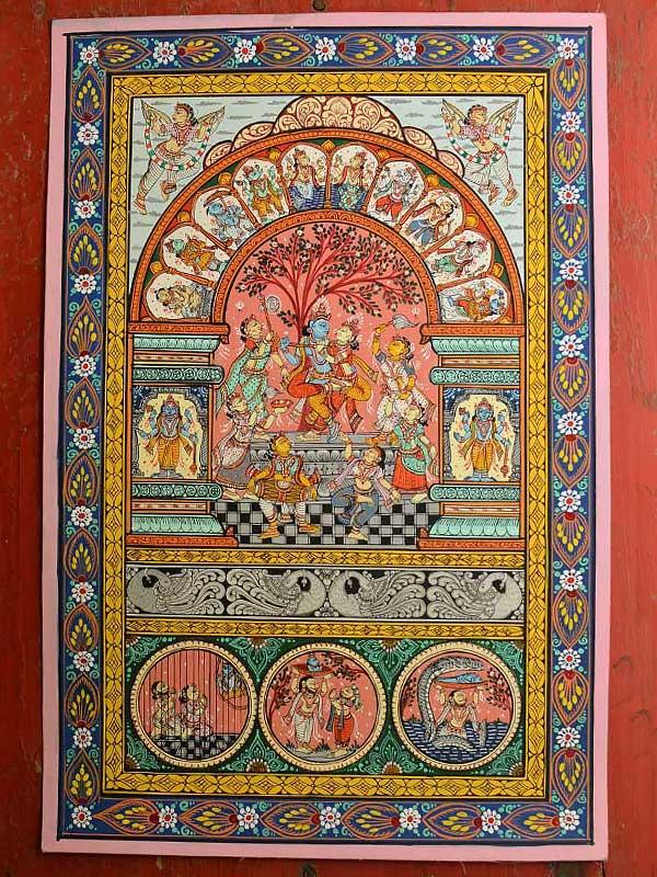 buy krishna leela pattachitra painting orissa