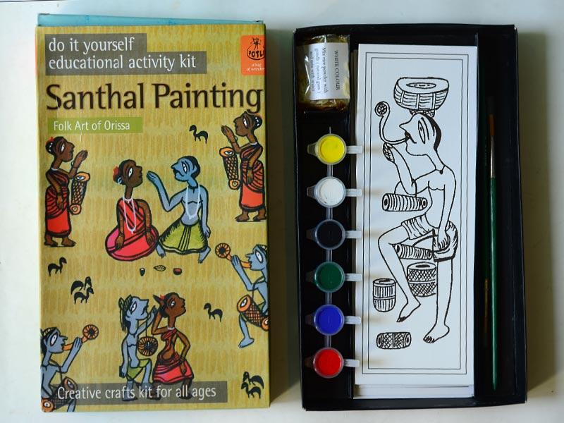 Diy kits from potli for kids potli diy kit santhal painting solutioingenieria Images