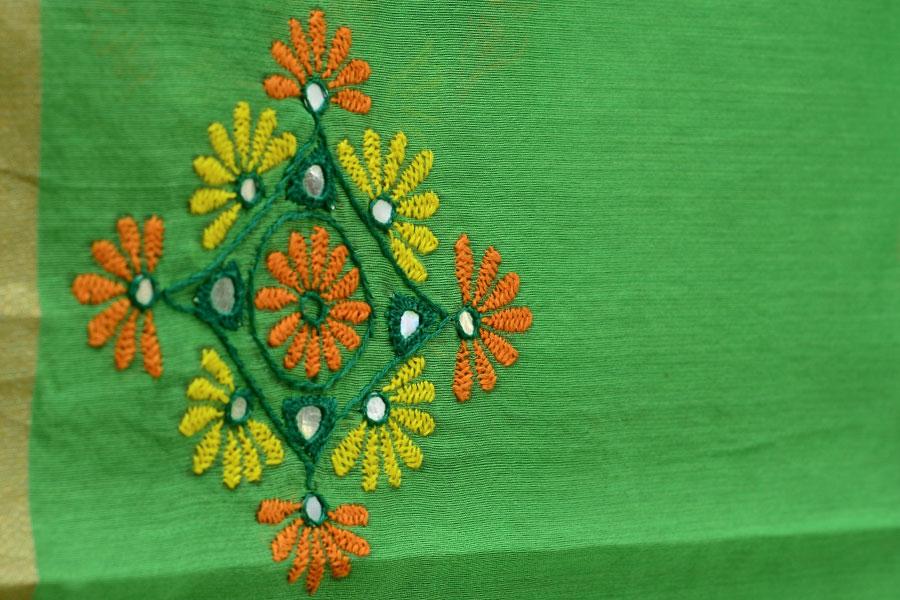 Hand embroidery designs for dupattas makaroka