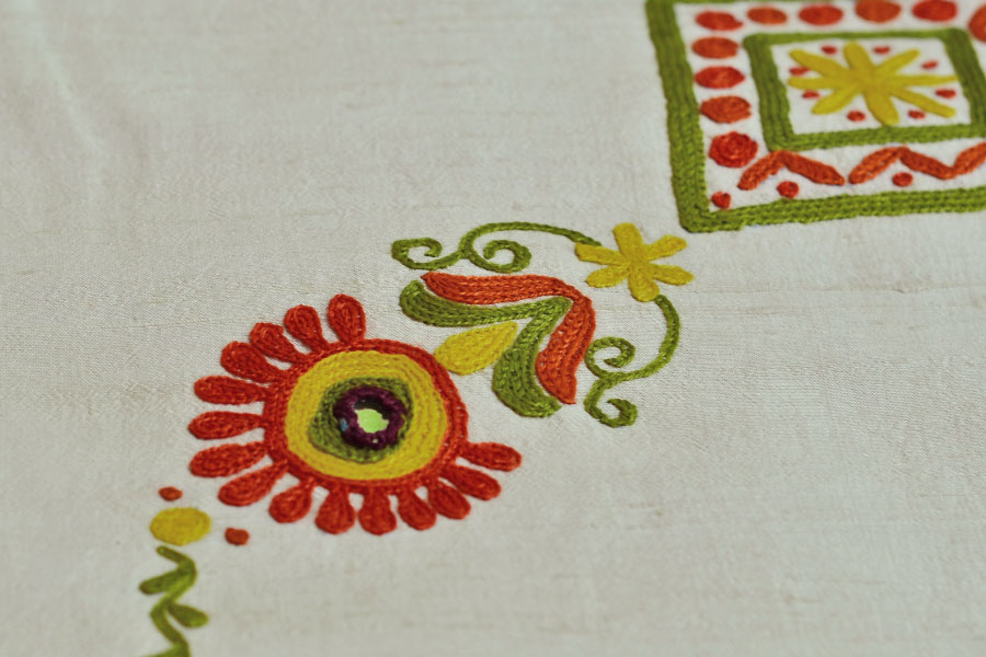 Hand embroidery designs for black sarees