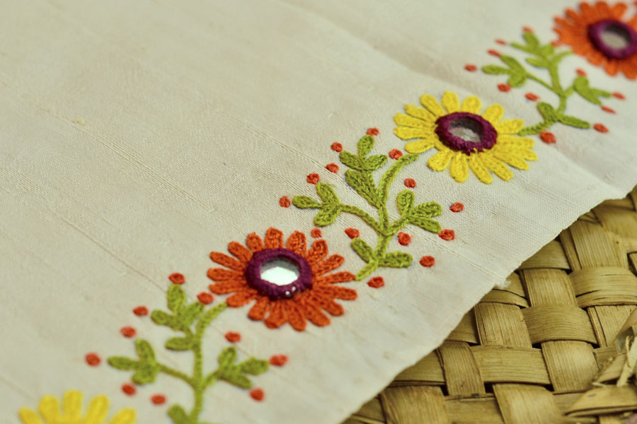 Embroidery Designs For Sarees Border By Hand Ausbeta