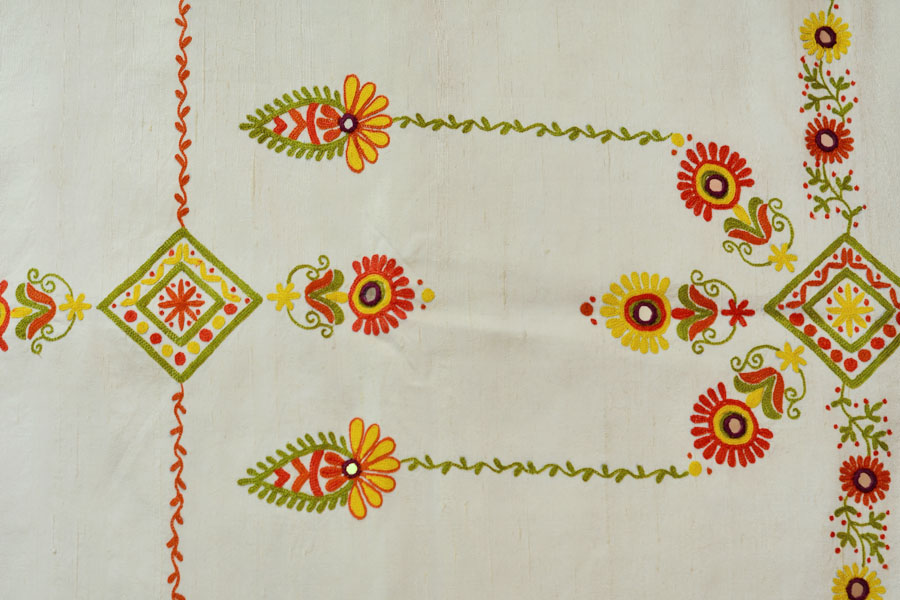 Hand embroidery designs for silk sarees border