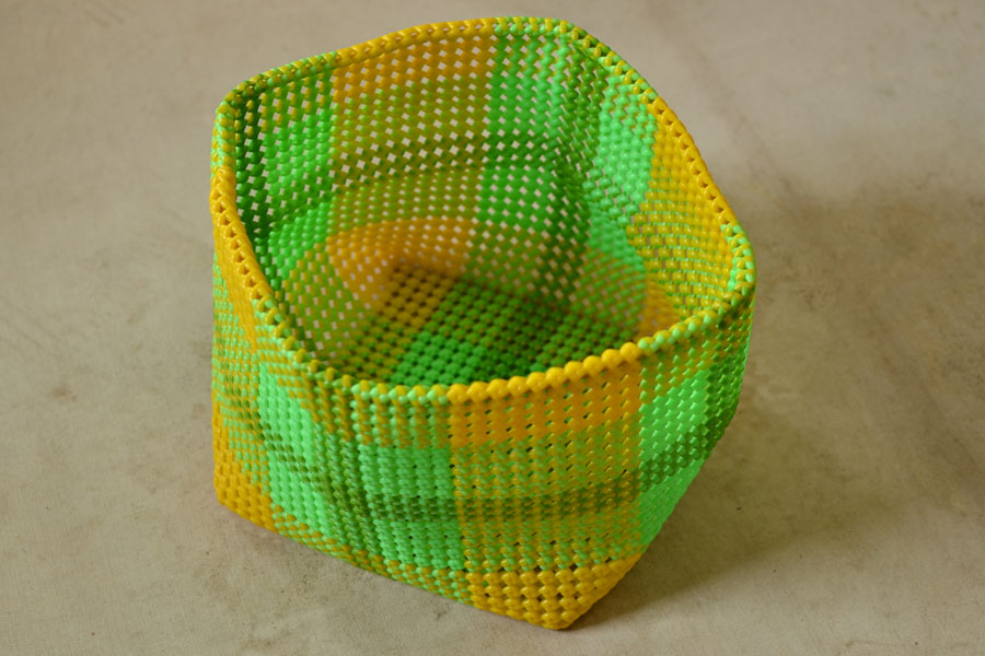 fdff6c9adf5ca Cuckoo's nest ♺ Recycled Plastic Basket with Cap ♺ 3