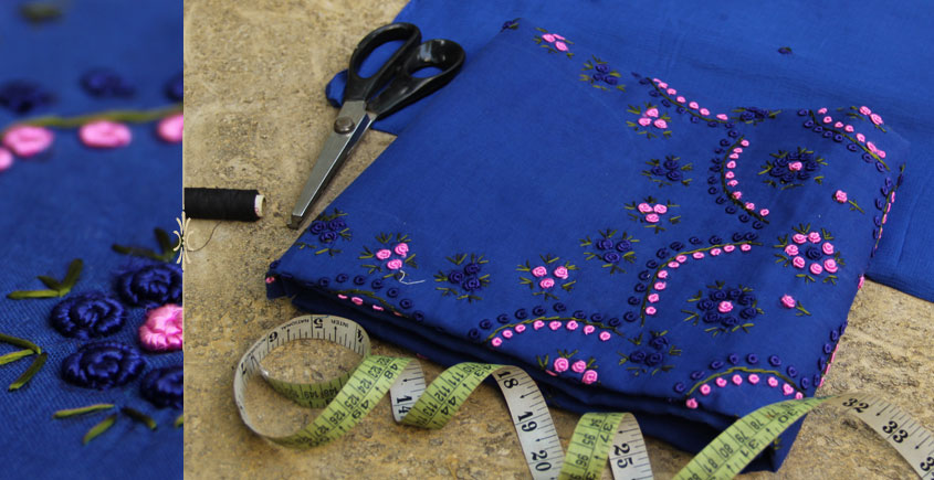 Shop Online Hand Embroidered Cotton Dress Material