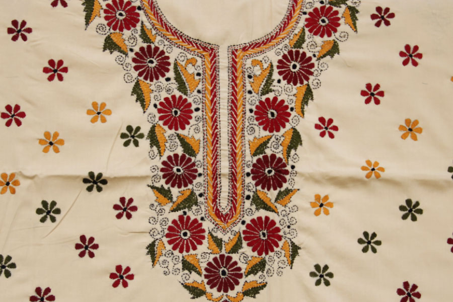 Shop online attractive and elegant kantha dress material