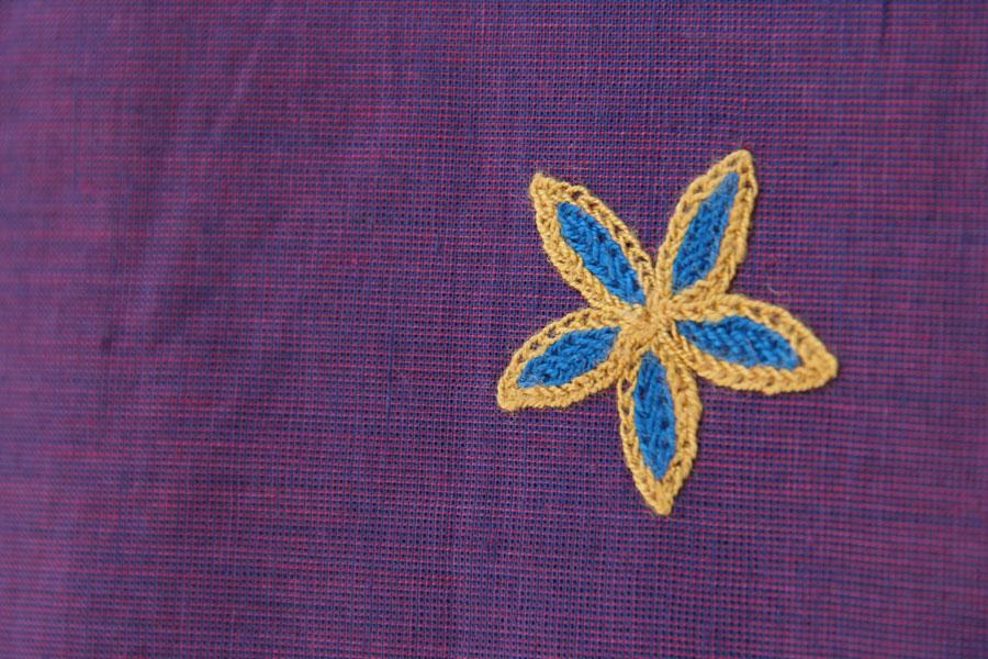 Shop online cotton handwoaven embroidered top