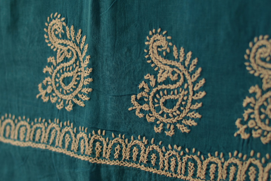 Buy Chikankari Embroidery Cotton Dupatta Online