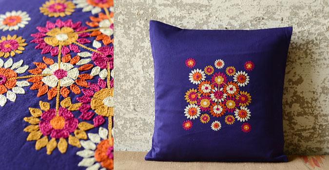 Cushioned Living Daffodils Purple Blue