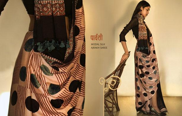 modal-silk-ajrakh-saree-online