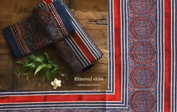 Ajrakh-cotton-bed-sheet