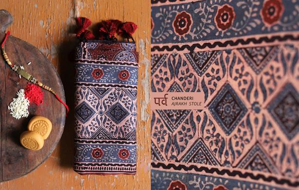 chanderi-silk-ajrakh-stole-online-buy