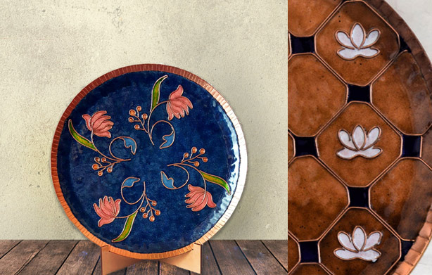 Copper-Enameled-Wall-Plates