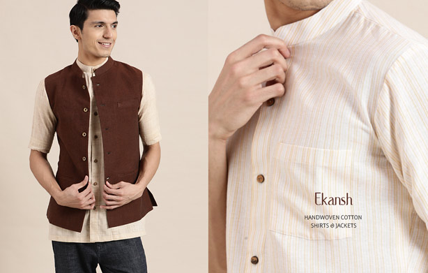 Handwoven-Cotton-Shirts-&-Jackets-for-men