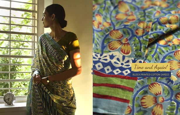 Cotton-handprinted-saree